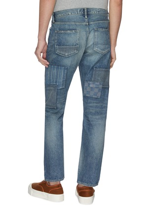 Back View - Click To Enlarge - FDMTL - Mix panel Boro patchwork jeans