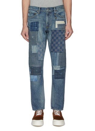 Main View - Click To Enlarge - FDMTL - Mix panel Boro patchwork jeans