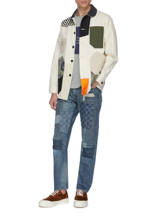 Figure View - Click To Enlarge - FDMTL - Mix panel Boro patchwork jeans
