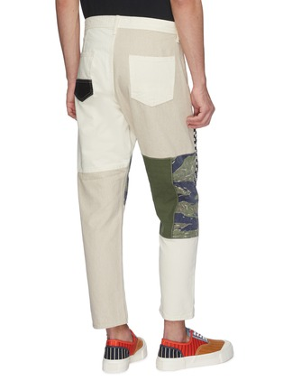 Back View - Click To Enlarge - FDMTL - Mix panel Boro patchwork cropped pants