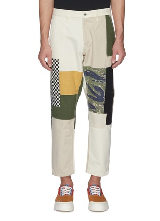 Main View - Click To Enlarge - FDMTL - Mix panel Boro patchwork cropped pants