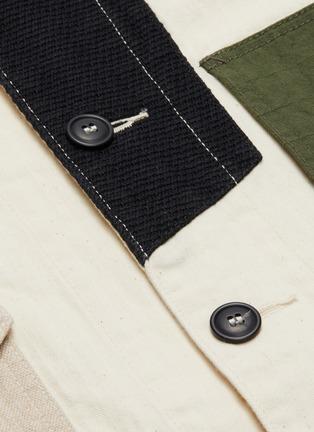 - FDMTL - Patchwork herringbone shirt jacket