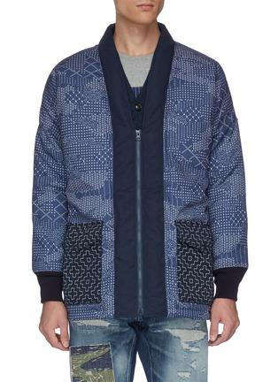 Main View - Click To Enlarge - FDMTL - Sashiko camouflage print padded jacket