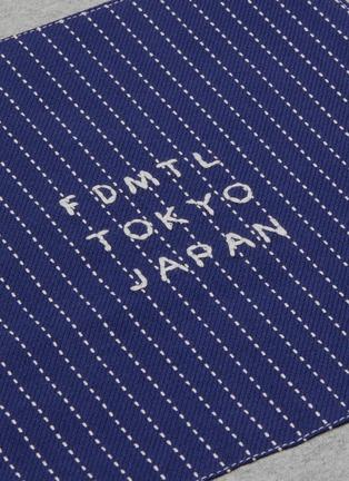 - FDMTL - Logo embroidered sashiko panel T-shirt