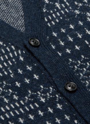 - FDMTL - Sashiko pattern jacquard cardigan