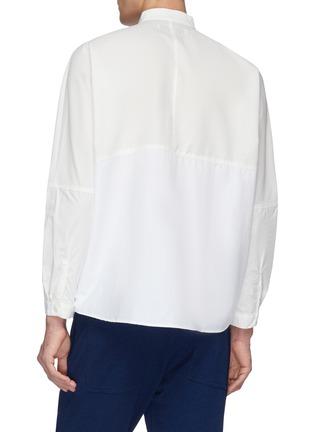 Back View - Click To Enlarge - FDMTL - Mandarin collar chest pocket patchwork shirt