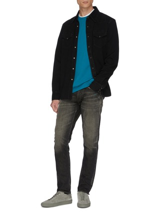 Figure View - Click To Enlarge - DENHAM - 'Razor' paint splatter slim fit jeans