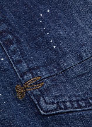 - DENHAM - Raw cuff paint splatter jeans