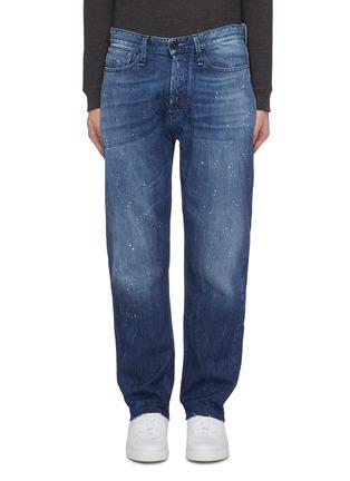 Main View - Click To Enlarge - DENHAM - Raw cuff paint splatter jeans