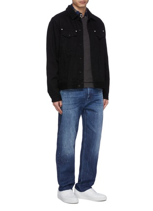 Figure View - Click To Enlarge - DENHAM - Raw cuff paint splatter jeans