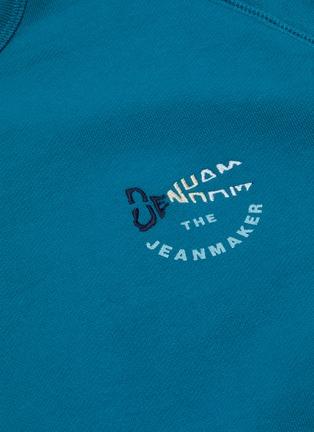 - DENHAM - 'Tehee' logo embroidered raglan sweatshirt