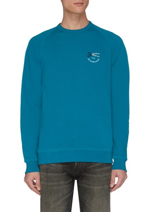 Main View - Click To Enlarge - DENHAM - 'Tehee' logo embroidered raglan sweatshirt