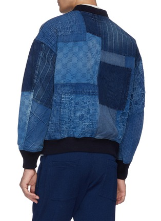 Back View - Click To Enlarge - FDMTL - Boro patchwork bomber jacket