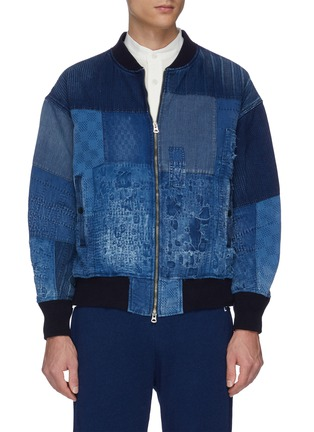 Main View - Click To Enlarge - FDMTL - Boro patchwork bomber jacket