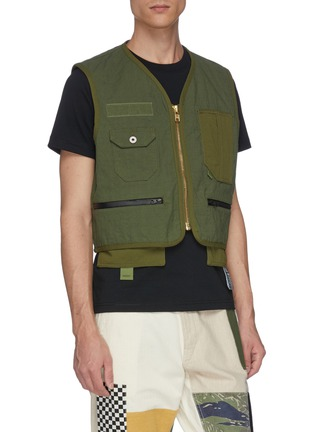 Detail View - Click To Enlarge - FDMTL - Two-in-one vest and shirt jacket