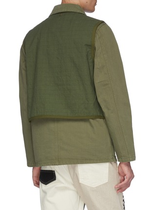 Back View - Click To Enlarge - FDMTL - Two-in-one vest and shirt jacket