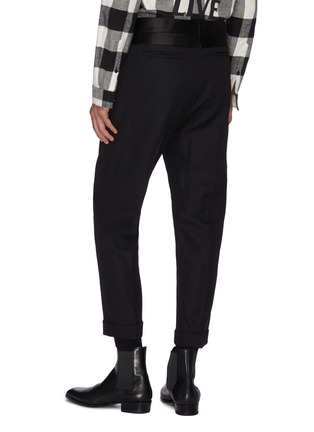Back View - Click To Enlarge - HAIDER ACKERMANN - Silk satin waistband wool pants