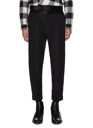 Main View - Click To Enlarge - HAIDER ACKERMANN - Silk satin waistband wool pants