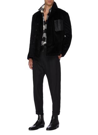 Figure View - Click To Enlarge - HAIDER ACKERMANN - Silk satin waistband wool pants
