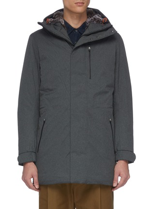 Main View - Click To Enlarge - SAVE THE DUCK - Faux fur lined hooded parka