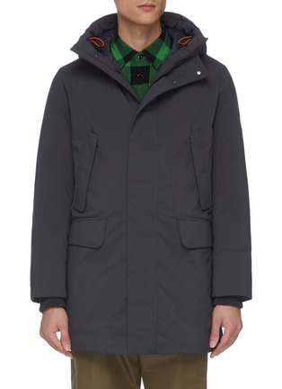 Main View - Click To Enlarge - SAVE THE DUCK - Plumtech® lined hooded puffer parka
