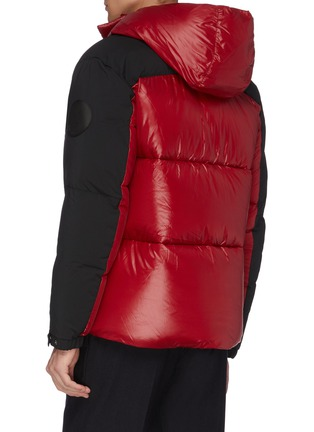 Back View - Click To Enlarge - SAVE THE DUCK - 'Luma' colour block water-resistant hooded puffer jacket