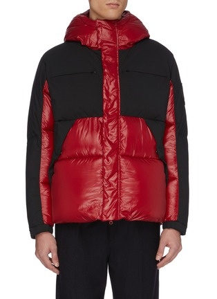 Main View - Click To Enlarge - SAVE THE DUCK - 'Luma' colour block water-resistant hooded puffer jacket