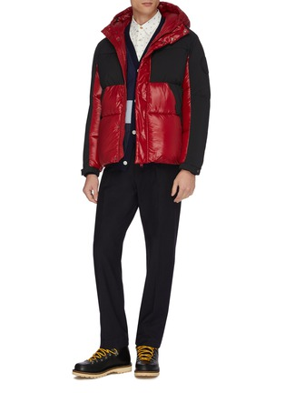 Figure View - Click To Enlarge - SAVE THE DUCK - 'Luma' colour block water-resistant hooded puffer jacket