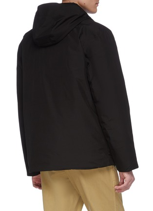 Back View - Click To Enlarge - NORSE PROJECTS - 'Ystad' retractable hood Gore-Tex down waterproof jacket