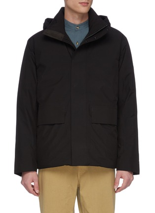 Main View - Click To Enlarge - NORSE PROJECTS - 'Ystad' retractable hood Gore-Tex down waterproof jacket
