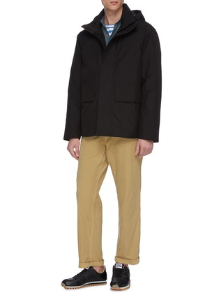 Figure View - Click To Enlarge - NORSE PROJECTS - 'Ystad' retractable hood Gore-Tex down waterproof jacket