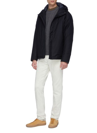 Figure View - Click To Enlarge - NORSE PROJECTS - 'Loro Piana' hooded waterproof down wool jacket