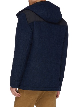 Back View - Click To Enlarge - NORSE PROJECTS - 'Nunk' Thermore Ecodown insulation hooded wool Harris tweed shirt jacket