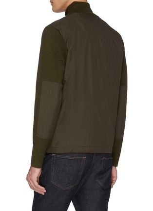 Back View - Click To Enlarge - NORSE PROJECTS - 'Fjord' contrast panel patchwork zip cardigan