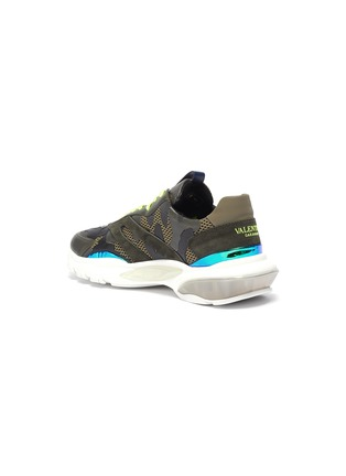 - VALENTINO - 'Bounce' camouflage print patchwork mesh sneakers