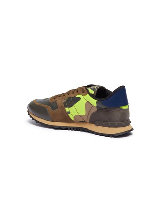 - VALENTINO - 'Camouflage Rockrunner' patchwork sneakers
