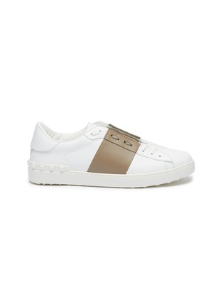 Main View - Click To Enlarge - VALENTINO - Valentino Garavani 'Open' colourblocked leather sneakers