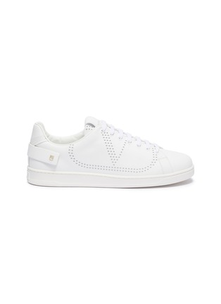 Main View - Click To Enlarge - VALENTINO - Valentino Garavani 'VLOGO' perforated leather sneakers