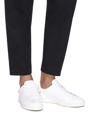 Figure View - Click To Enlarge - VALENTINO - 'VLOGO' perforated leather sneakers