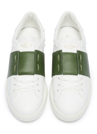 Detail View - Click To Enlarge - VALENTINO - Valentino Garavani 'Open' colourblock leather sneakers