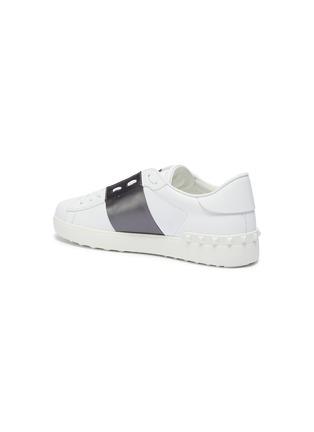 - VALENTINO - Valentino Garavani 'Open' metallic colourblocked leather sneakers