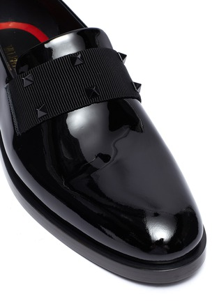 Detail View - Click To Enlarge - VALENTINO - Rockstud patent loafers