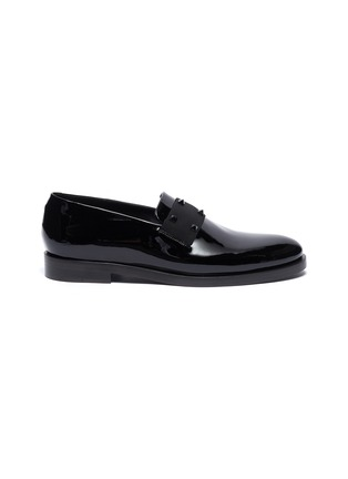 Main View - Click To Enlarge - VALENTINO - Rockstud patent loafers