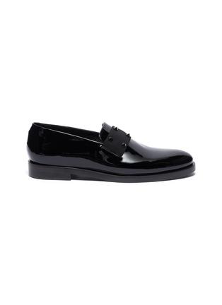 Main View - Click To Enlarge - VALENTINO - Valentino Garavani Rockstud patent loafers