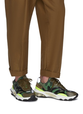 Figure View - Click To Enlarge - VALENTINO - 'Bounce' camouflage print patchwork mesh sneakers