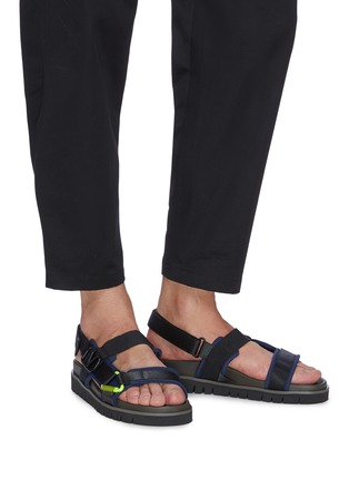 Figure View - Click To Enlarge - VALENTINO - 'VLOGO' buckle slingback sandals