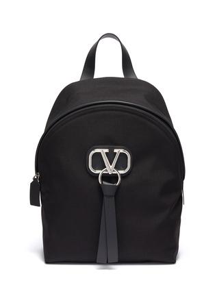 Main View - Click To Enlarge - VALENTINO - Valentino Garavani 'VLOGO' ribbon backpack