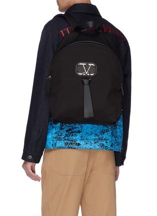 Figure View - Click To Enlarge - VALENTINO - Valentino Garavani 'VLOGO' ribbon backpack