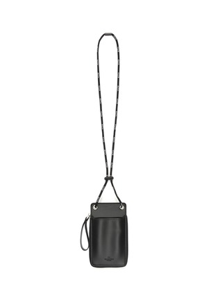 Detail View - Click To Enlarge - VALENTINO - VLTN lanyard leather zip wallet