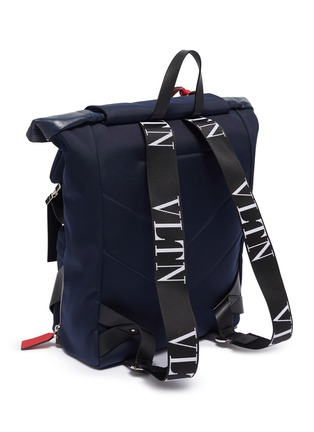 Detail View - Click To Enlarge - VALENTINO - Logo print backpack